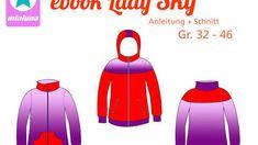 Ebook Schnittmuster Sweatjacke Jacke Lady Sky Gr. 32-46   bei Makerist