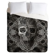 Buy Duvet Cover with Lace Skull designed by Ali Gulec. One of many amazing home décor accessories items available at Deny Designs. Skull Wall Art, Skull Shower Curtain, Lace Skull, Home Decor Accessories, Comforter Sets, My Room, Bedroom Decor, Skull Bedroom, Duvet Covers