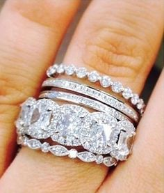 """Emily Maynard""""s Rings... Love the tiny stackable rings"""