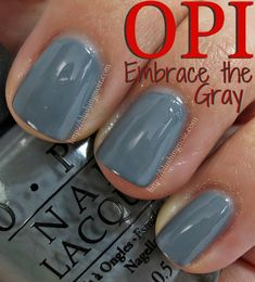 OPI Embrace the Gray Nail Polish Swatches - 50 Shades of Grey Collection