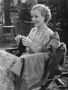 Gloria Stewart knitting when young :: Because Knitting is So Hollywood…. | meetmeatmikes