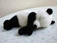Sleeping Panda amigrumi free pattern translated from Japanese