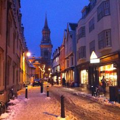 Christmas in Oxford, England