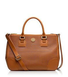 ROBINSON PERFORATED DOUBLE-ZIP TOTE