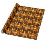 Orange City Nights Wrapping Paper #halloween #happyhalloween #halloweenparty #halloweenmakeup #halloweencostume