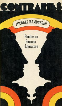 Cover design by Barry Zaid, 1970, Studies in German Literature by Michael Hamburger.