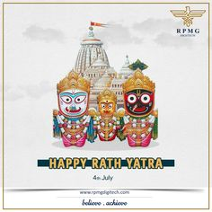On this auspicious occasion of Rath Yatra, let's celebrate the glory of Lord Jagannath to destroy the evil and bring in happiness, prosperity and success to your life.  Wishing you and your family a blessed Rath Yatra.  #JaiJagannath #RathYatra #RPMGDigitech