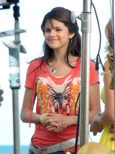 Selena Gomez as Alex Russo on the set of Wizards Of Waverly Place the movie in 2009.