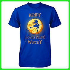 Kendy Loves Being Witchy. Halloween Gift - Unisex Tshirt Royal 5XL - Holiday and seasonal shirts (*Amazon Partner-Link)