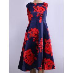 Retro Style Floral Print Flare Dress | TwinkleDeals.com