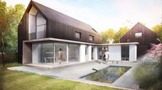Modern Contemporary Extension Refurbishment Winchester Hampshire by AR Design Studio