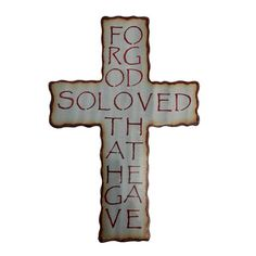 David Broussard created this John cross to demonstrate our Father' s love for us. He sent His only Son to die for us. Handmade, unique and truth.