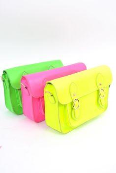 neon cambridge satchels