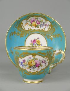 coalport cup and saucer | coalport cups & saucers | 49E: A Coalport porcelain tea cup and saucer ...