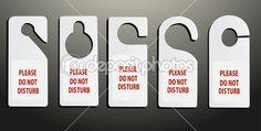 Hotel niet storen deur hanger — Stockvector © mitay20 #38621121