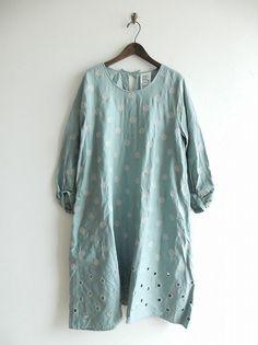 9fd2f838b58 ミナペルホネンランドリー mina perhonen laundry vapor ドット刺繍ワンピース Layered Look, Mori Girl,