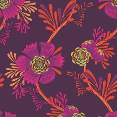 MAKOWER need /'l Love Floral Rosa Algodón Acolchado Tela FQ 50cm X 54cm