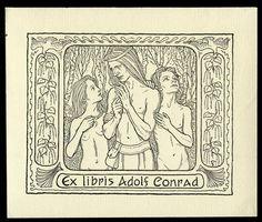 Exlibris für Adolf Conrad von Fidus (Hugo Höppener)