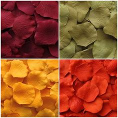 Autumn Collection of Silk Petals Package of 400  by BeforeTheIDos