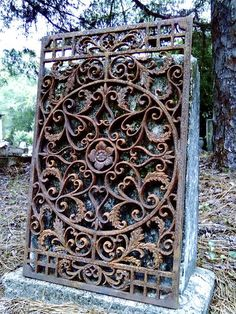 Cast Iron Floor Door Mat Ornate New Orleans Grate Ornate Fleur de Lis Garden | eBay
