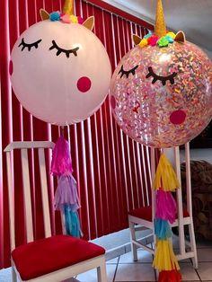 #Globos Gigantes  #Fineevents #Madewithlove Rainbow Birthday, Unicorn Birthday Parties, Birthday Diy, Festa Party, Diy Party, Balloon Tassel, Unicorn Balloon, Horse Party, Big Balloons