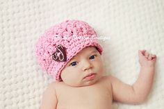 Newborn Baby Hat Baby Girl Hat Crochet Baby by PBlossomBoutique, $26.00