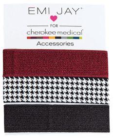 Cherokee Houndstooth Emi-Jay Hair Tie Style # CMEHTHOU  #uniformadvantage #uascrubs #hair #tie #hairtie #houndstooth