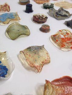 Bio plastics Composition Photo, Bio Art, Textiles, Plastic Art, Plastic Material, Fabric Manipulation, Material Design, Food Design, Recycled Materials