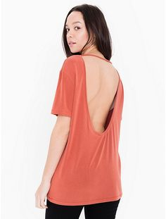Brushed Jersey Open Back Tee - $28
