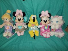 Lot of 5 Disney Parks Babies Plush with Security Blankets Marie Minnie Tink | eBay