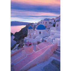 Santorini - Greece ❤ liked on Polyvore featuring backgrounds, photo, pictures and places