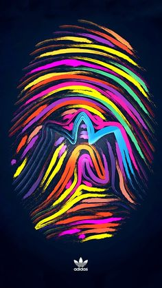 Fingerprint multicolor adidas iPhone 5s wallpaper