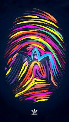 Fingerprint multicolor adidas iPhone 5s wallpaper