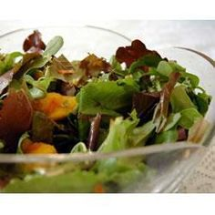 Mesclun and mango salad with ginger carrot dressing @ allrecipes.co.uk