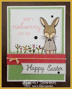 Heartfelt Sentiments: Stamp of the Month Blog Hop - Easter Bunny #CTMHSomeKindaWonderful #ShinHan #ctmheasterbunny