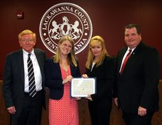 """On & On Marketplace of Scranton was the small business spotlighted at the May 3 Lackawanna County Commissioners meeting. Meegan Possemato and Andrew Planey established """"On & On Marketplace"""" in August 2015, bringing together artists and vintage vendors in one location."""