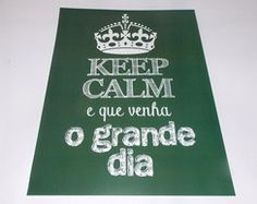 1 Cartaz De Papel Keep Calm