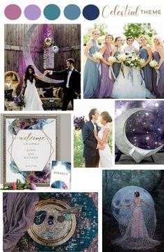 Starry Night Wedding, Moon Wedding, Celestial Wedding, Wedding Wishes, Wedding Bells, Dream Wedding, Wedding Theme Ideas Unique, Wedding Inspiration, Wedding Color Schemes