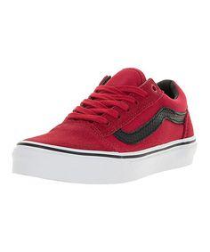 Racing Red & Black Old Skool Skate Shoe - Kids