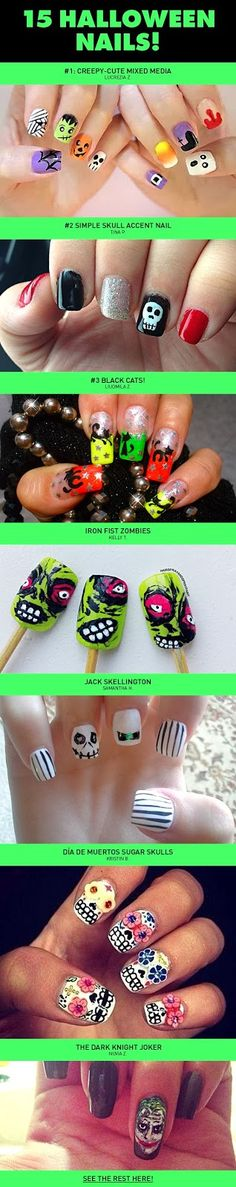 15 Halloween Nail Art Looks | .:: Hand made design ::.