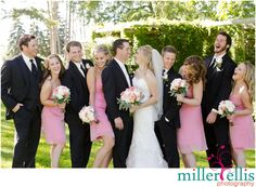 Fun laughing candid bridal party photo {Barrie Country Club Wedding}