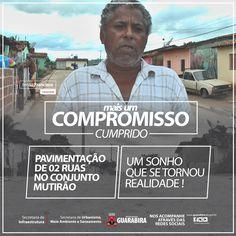 #MaisumCompromissoCumprido  A Prefeitura de Guarabira entregou no último dia 04/04 mais 02 ruas totalmente pavimentadas aos moradores do Conj. Mutirão  #AçõesQueMudam #PavimentandoOProgresso #CompromissoComoFuturo