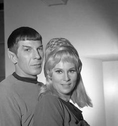 Leonard Nimoy (Spock) & Grace Lee Whitney (Janice Rand) -- Star Trek