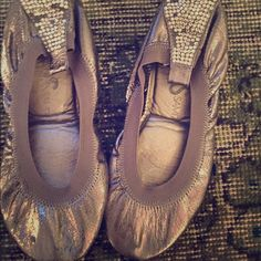 Pack and go flats Silver stud flats...Folds neatly into a purse! Yosi Shoes Flats & Loafers