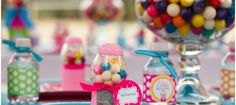 Awesomely Colorful Gumball Themed Birthday Party!