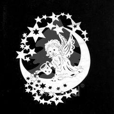 Anděl na měsíci s konvičkou