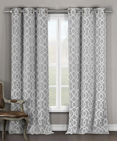 Gray Harris Blackout Curtain Panel - Set of Two                                                                                                                                                                                 More