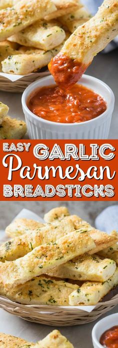 These homemade garlic parmesan breadsticks are so delicious and tempting. Fresh garlic, parmesan and subtle flavors of herbs make these breadsticks the best ever! And they are super easy to prepare. via @sugarandsoulco