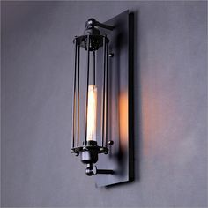 Black Metal Industrial Mini Wire Cage Wall Sconce Shade(Bulbs not Included): Amazon.co.uk: Lighting