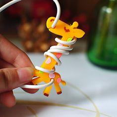 EUR € 0.91 - Girafe en caoutchouc bobinier (couleur aléatoire), livraison gratuite pour tout gadget!